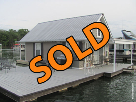 14 x 28 Floating House with Loft For Sale Approx 689sqft on Norris Lake TN at Waterside Marina