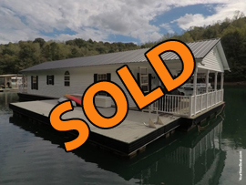 960sqft - 3 Bedroom 2 Bath Floating Home For Sale at Whitman Hollow Marina on Norris Lake Tennessee