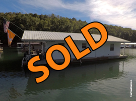 800sqft - 2 Bedroom 1 Bath Floating Home For Sale at Shanghai Resort Marina on Norris Lake Tennessee