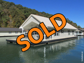 22 x 48 Floating Cabin Approx 1058sqft 3 Bedroom 2 Bath For Sale on Norris Lake Tennessee at Whitman Hollow Marina