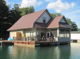 2-Story 3 Bedroom 2 Bath Floating Home For Sale at Mountain Lake Marina on Norris Lake Tennessee