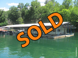 30 x 60 Floating House under 60 x 100 Cover For Sale on Norris Lake TN