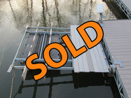 Front Mount Boat Lift for PWCs or Small Jon Boat or Fishing Boat For Sale on Norris Lake Tennessee