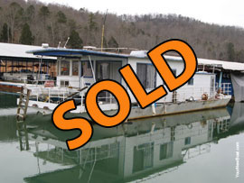 12 x 44 Steel Hull Houseboat For Sale on Norris Lake