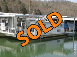11 x 39 Drifter Steel Hull Houseboat For Sale on Norris Lake